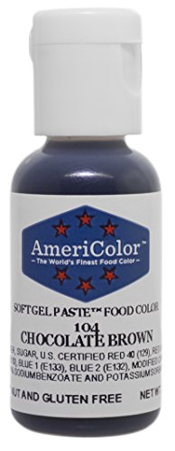 Americolor Soft Gel Paste Food Coloring, Chocolate Brown Net WT.    ()