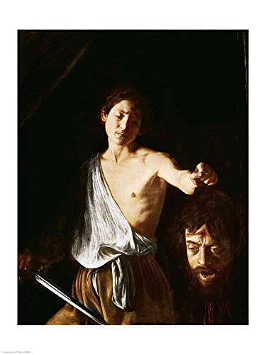 David with the Head of Goliath, 1606 by Michelangelo Caravaggio Art Print, 15 x 20 inches