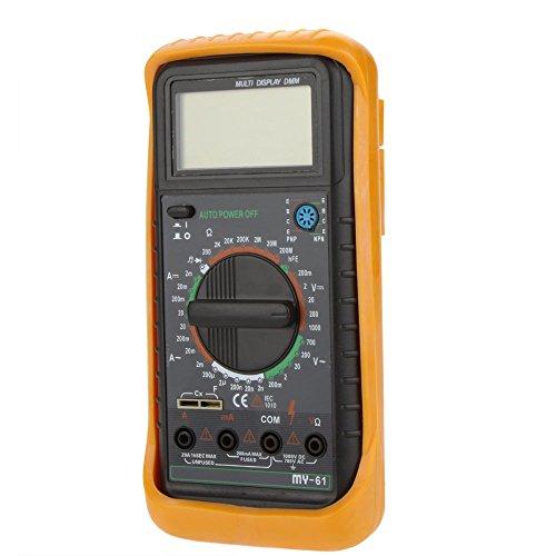 - Handheld DMM Digital Multimeter Ammeter Voltmeter Ohmmeter w/ Capacitance & hFE Test MY-61