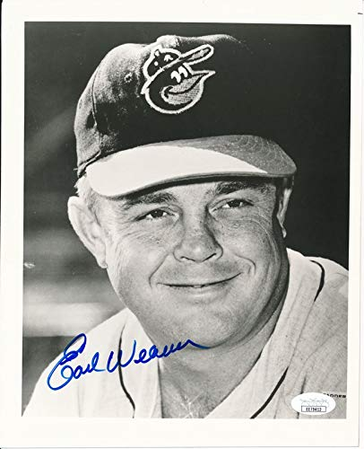 Earl Weaver Baltimore Orioles HOF Signed/Autographed 8x10 Photo JSA 144327
