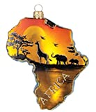 Africa Continent Country Polish Glass Christmas Ornament Travel Souvenir 085
