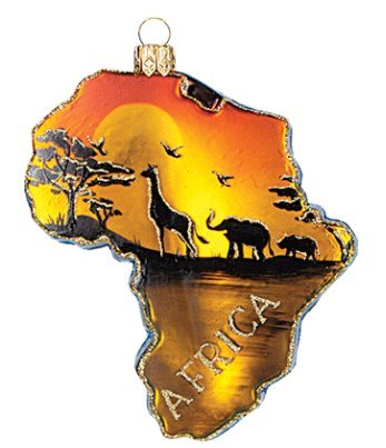 Africa Continent Country Polish Glass Christmas Ornament Travel Souvenir 085 by VT-Ornaments