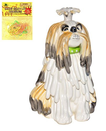 Westland Ceramic Shih Tzu Dog Doggy Piggy Coin Bank with Silly Bands (Pit Bull Piggy Bank)