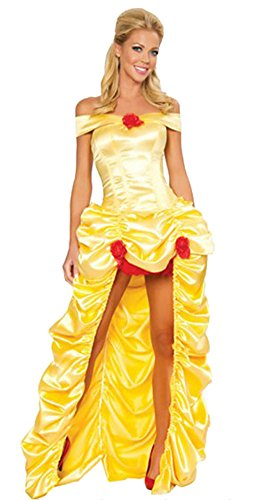 [Ace Halloween Adult Women's Beauty and the Beast Belle Costumes] (Belle Halloween Costumes For Women)