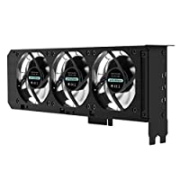 Anidees AI-GP-CL8 VGA Graphic Card Cooler incl. 3 x80mm RGB LED Fans PCI Mount Bracket with Fan Speed Controller - RGB