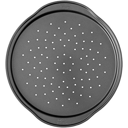 Wilton Perfect Results Non-Stick Pizza Crisper Pan, 14-Inch Pizza Pan (Pizza Sheets)