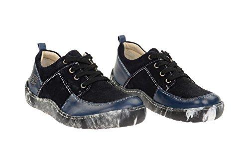 Bleu À Chaussures Femme Lacets 010 Coupe Et 17916 Classique Eject qtwzH6pn