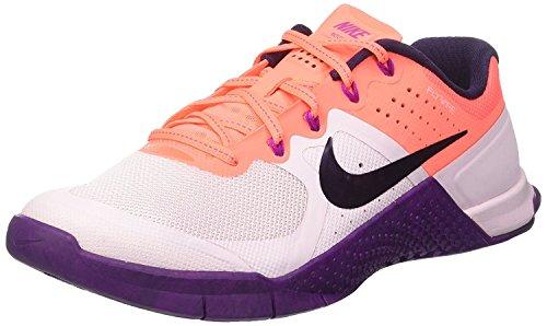 NIKE Women's Metcon 2 Ankle-High Fashion Sneaker Bleached Lilac / Purple Dynasty