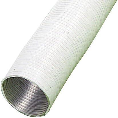 Wolfpack Tubo Aluminio Compacto Ø 120 mm, Ventilador Extractor, Tubo Campana, Ventilación Doméstica, Color Blanco