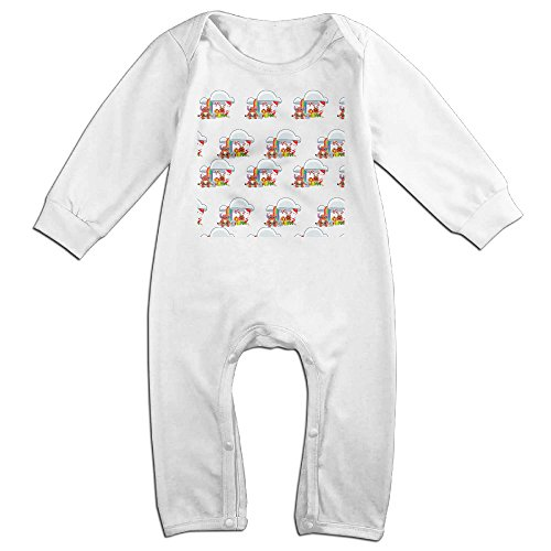 VanillaBubble Stitch And Christmas For 6-24 Months Baby Cute Baby Climbing Clothes White Size 24 (Toy Story 3 Barbie Halloween Costume)
