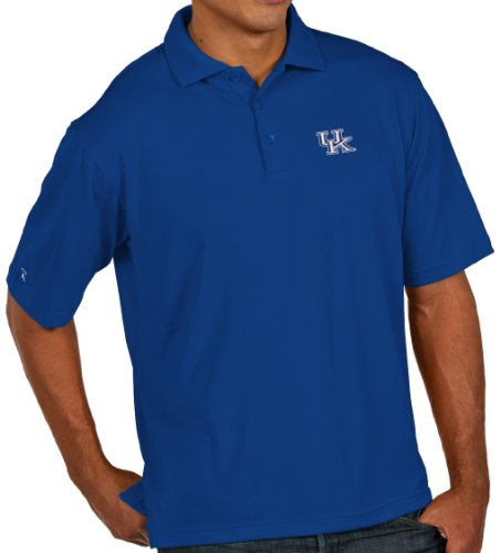 Antigua Kentucky Classic Pique Polo Shirt (Small, Dark Royal)