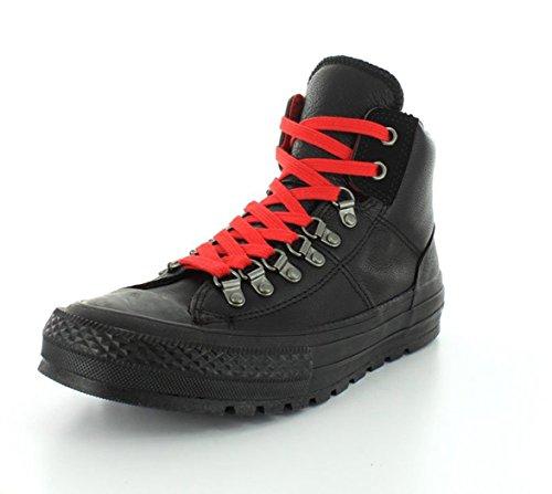 Converse CT AS Hi Street Hiker Leather Black Black - negro y rojo