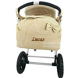 Bolso para carrito de bebé en polipiel y personalizado