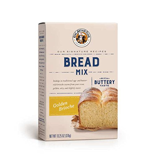 King Arthur Flour Golden Brioche Bread Mix - 13.25 OZ (376g), Bread Mix for Bread Machines or Oven Baked Bread.