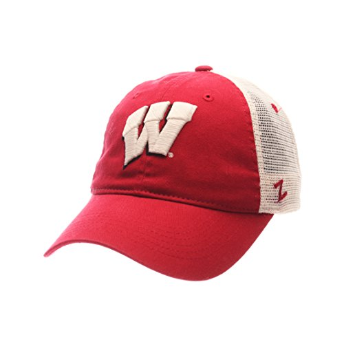 NCAA Wisconsin Badgers Adult Men University Relaxed Cap, Adjustable, Team Color/Stone