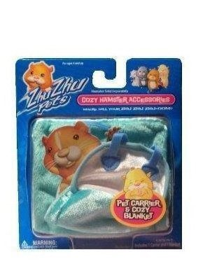 Zhu Universe Zhu Zhu Pets: Hamster Carrier and Blanket – Turquoise Toy Hamster Accessory, Baby & Kids Zone