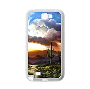 Best Custom Case,Desert Cactus Sunset Samsung Galaxy Note2 N7100 Plastic and TPU Case, Cell Phone Cover