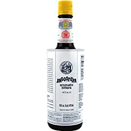Angostura Aromatic Cocktail Bitters - 16 Ounce Bottle 4 The herbal essences of Angostura bitters are well-suited for whiskey and rum drinks and add structure and complexity to fruity cocktails Serve an Old Fashioned classic cocktail at your bar, restaurant, or lounge made with whiskey, bitters, sugar, and water Angostura bitters can also be used in mojitos, Manhattans, Island Breezes, and more
