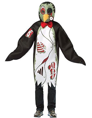 Adult Zombie Penguin Costumes (Rasta Imposta Zombie Penguin, Black/White, Standard)