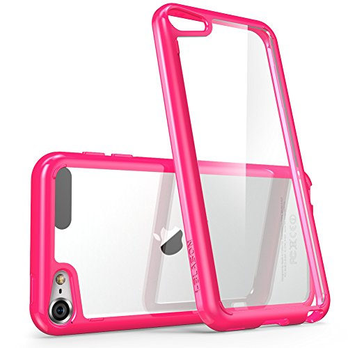 iPod Touch 6th Generation Case, [Scratch Resistant] i-BlasonClear [Halo Series] for Apple iTouch 5/6 Hybrid Bumper Case Cover (Pink Halo Pattern)