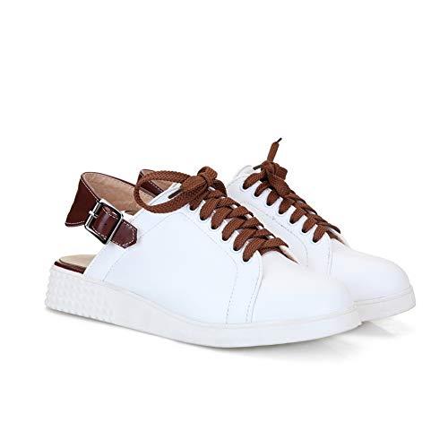 5 Sandales Femme 36 APL10629 Blanc Compensées BalaMasa EU Blanc Hpq40AnRw