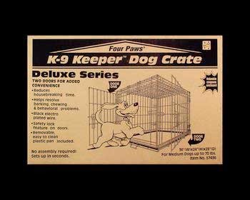 Four Paws Medium Double Door Deluxe Dog Crate With Divider Panel ()