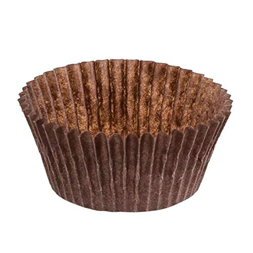 DECONY Brown Cupcake Liners Standard Size Cupcake Paper Baking Cup Liners - appx. 2