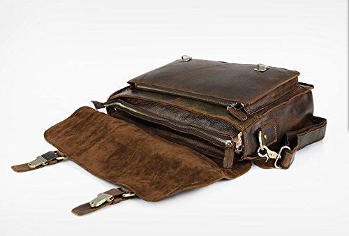 lqt Sterne Modern nostalgiche Mode piel auténtica piel de vacuno bolso hombro bolso maletín