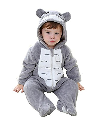 BOwith Unisex Baby Animal Onesie Christmas Xmas Costume Cartoon Outfit Homewear Totoro 70 - Totoro Costume Ideas
