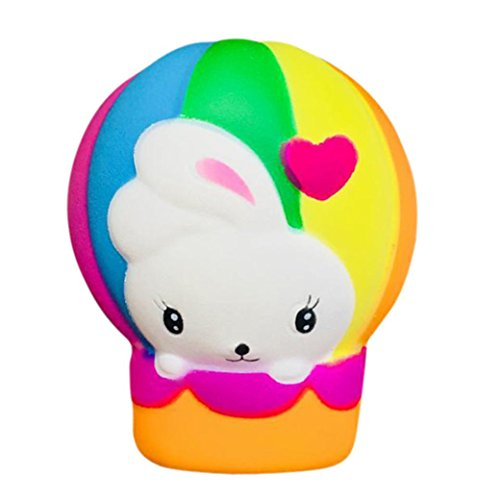 Price comparison product image Balakie Squishy Toys,  Slow Rebound Rainbow Hot Air Balloon Squeeze Toy