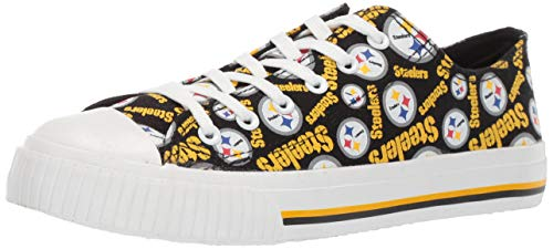 FOCO NFL Womens Low Top Repeat Print Canvas Shoes – DiZiSports Store