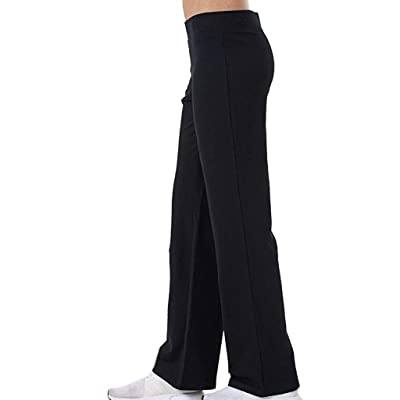 Sinfu Women Summer Casual Loose Sweatpants Solid Color Elastic Waist Yoga Pants Stretch Fitness Running Trousers: Clothing
