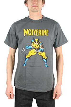 Men's Marvel Comics X-men Wolverine T-shirt (Small/Grey)