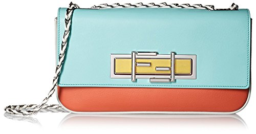 Fendi-Womens-3Baguette-With-Cross-Body-Chain-Pimento-RedTiffanyWhite