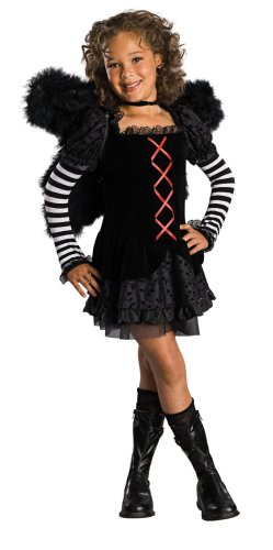 Drama Queens Child's Dark Angel Costume, Small (Dark Angel Halloween Costume For Kids)