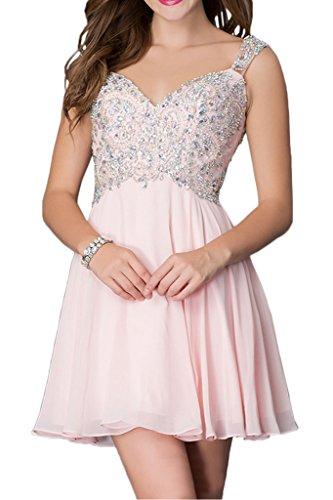 Traeger Kleider A Bride Rosa Strass Milano Promkleid Linie Attrative Kurz Abschlusskleider ExqfOd0aw