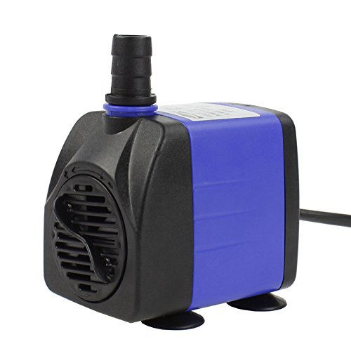 Aquaneat 265 GPH Submersible Water Pump Adjustable Powerhead Aquarium Fish Tank Fountain Hydroponic