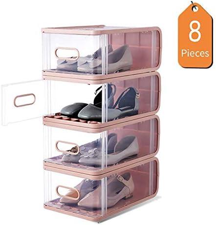 LHY SAVE Cajas Zapatos Plástico,Transparente Apilables Cajas De ...