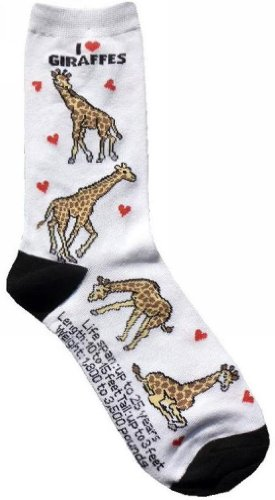 I Love Giraffes Socks
