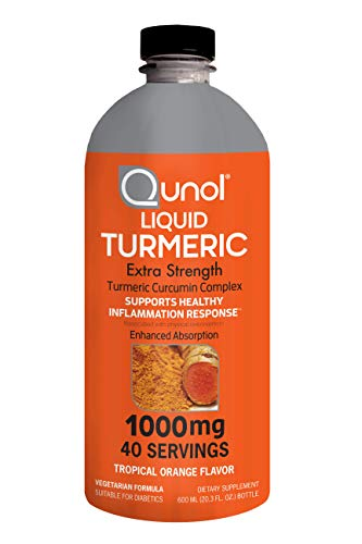 Liquid Turmeric Curcumin, Qunol with Bioperine 1000mg, Joint Support, Dietary Supplement, Extra Strength, 40 Servings