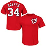 Majestic Athletic Men's Bryce Harper Washington Nationals Name & Number Red T-Shirt