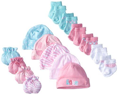 Gerber Baby Newborn Love 15 Piece Socks Caps and Mittens Ess