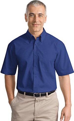 Port Authority Men's Short Sleeve Value Poplin Shirt