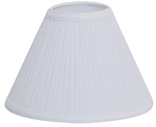 """Deran 401-13-WH 13"""" Mushroom Pleat Empire Lamp Shade, 6"""" x 1"""