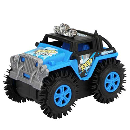 Binory Baby Dump Truck Simulation 4 Wheels Drive Jeep Electric Stunt Toy Car,Creative Learning and Educational Toy for Children's Day Birthday,Developmental Gift for Kids Boys ()