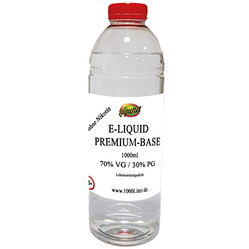 Premium E Liquid Base 70VG /30PG für mehr Dampf 1L Propylen Glycerin Vape OHNE Nikotin 0 1000 ml …