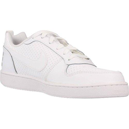 Nike Court Borough Low (GS), Zapatillas de Baloncesto Unisex Niños blanco