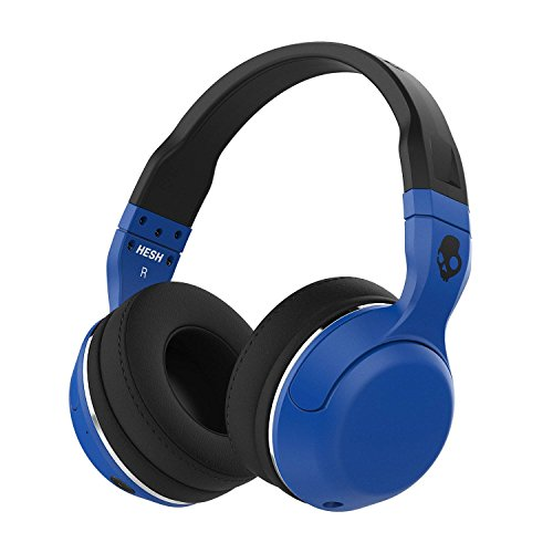 - Skullcandy Hesh 2 Bluetooth Wireless Over-Ear Headphones with Microphone, Supreme Sound and Powerful Bass, 15-Hour Rechargeable Battery, Soft Synthetic Leather Ear Cushions, Blue