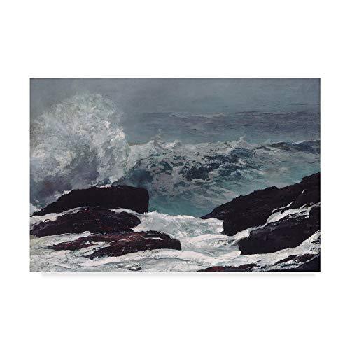 1896 Art - Trademark Fine Art Maine Coast, 1896 by Winslow Homer, 30x47