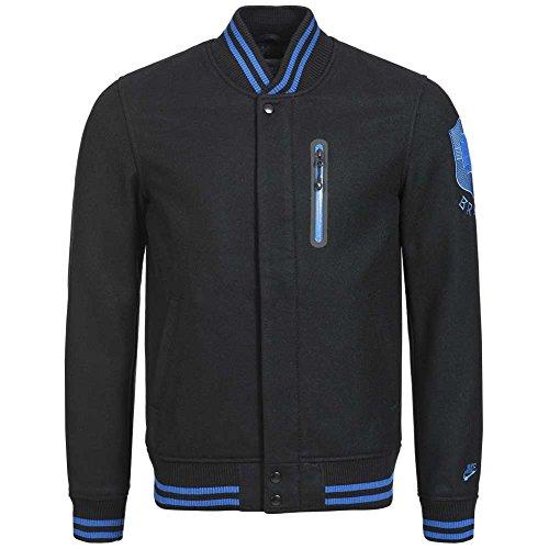 Nike Sportswear Black Brazillian Football Confederation Brazil Letterman Jacket Varsity , Size Medium